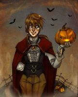 Halloween for Aeris by luniara