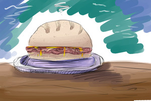 Bacon Sandwich by FeatheredSoap
