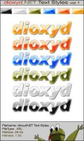 dioxyd.NET Text Styles vol 1 by monoxyd