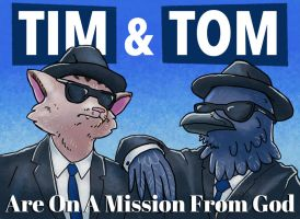 [BADGE] Tim and Tom: Blues Brothers by BriMercedes