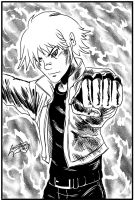 King of Fighters - Rock inks by Lannytorres