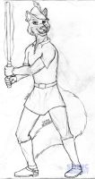 Jedi Knight Robin Hood (sketch) by SonicHomeboy