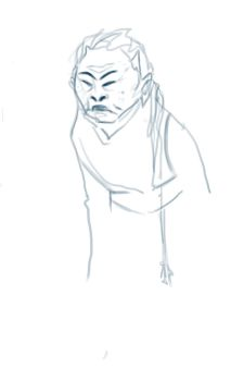 an old Chineese lady sketch by belizna