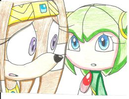 Tikal and Cosmo want peace by cmara