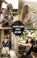 Free Action Golden Glow Effect by smfaplus