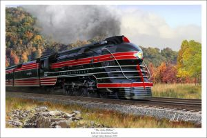 Lehigh Valley RR K5B Pacific by markkarvon
