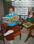 Tintin reading a Tintin comic by melle-sucre