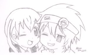 Soul and Maka by InuKid
