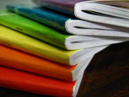 Rainbow Notebooks by abbiiieeee