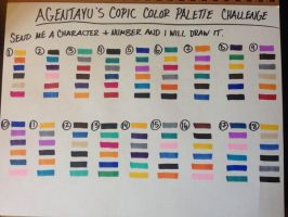 AgentAyu's Copic Color Palette Challenge by agent-ayu
