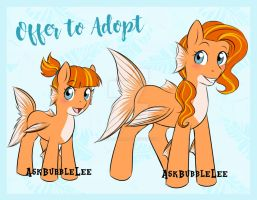 Goldfish Sea Pony Adoptable by AskBubbleLee