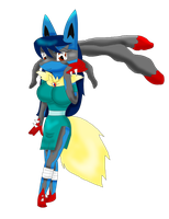 Annissa the Lucario - Mega Form by KendraTheShinyEevee