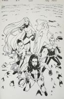 A-Force #4 Inks by ZurdoM