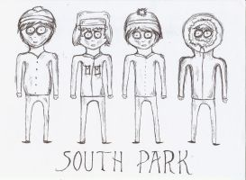 South Park Tim Burton by xxxSouthparkxxx