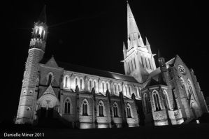 Sacred Heart Cathedral BW by DanielleMiner
