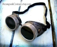Handpainted Silver Goggles by ByKato