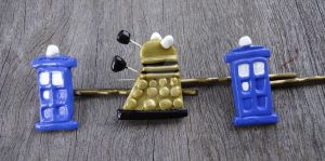 Dr Who hair pins by geeekalicious