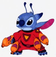 Stitch in Red Suit 1 by Ribera