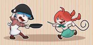 Fantasy Life - Rolly and MarMar by alliemackie