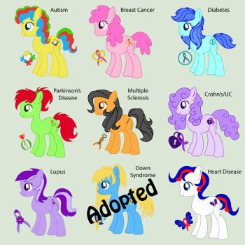 Awareness Ponies-MLP OC Adoptables-Open by CraftMuse