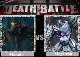 DEATH BATTLE! Idea: Makuta VS Megatron by Powershade117