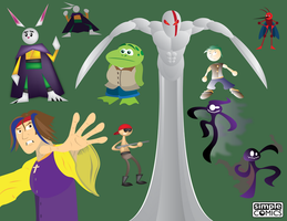 DigiDoodles 21 - Various Characters by simpleCOMICS