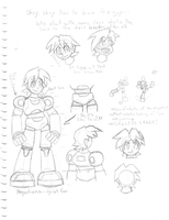 MegaMan Volnutt sketch page by the-Rose-of-Blue