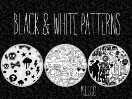 Black and white patterns-Blanco y negro patterns by mjjj10