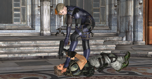 Jill Valentine Victory Over Chris Redfield by nashdnash2007
