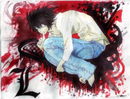 Death Note L by lyxachaos21