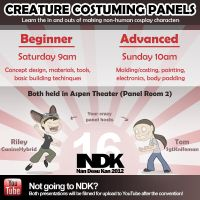 [NDK 2012] Creature Costuming Panels by CanineHybrid