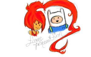 Finn and Flame Princess by TsuuChann