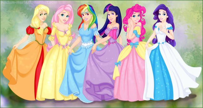 My Little Pony Princesses by madam-marla