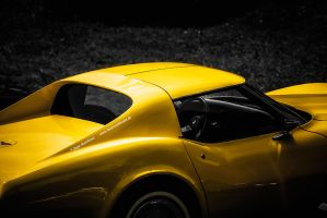 yellow Corvette C3 Stingray by AmericanMuscle