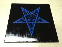 Square Sigil of Baphomet Plaque Blue by SigilofSulfer