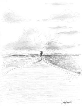 Lonely road sketch by mozer1a0x