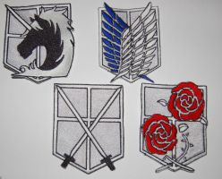 Shingeki no Kojin - Attack on Titan Patches by RabbitTales