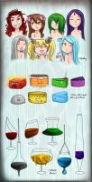 7Sins: Girls Cakes Wineglasses by Chocoreaper