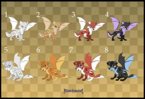 [Closed] Adoptables: Bat Puppies 2 by MySweetQueen