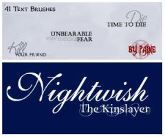 The Kinslayer - Text Brushes by NemesisDivina666