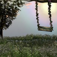 Stock Background Summer Swing by Twins72
