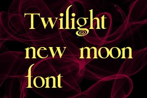 twiliight n ew moon font by HaSiYnE