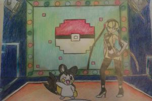 VS Gym leader: Elesa- VS Lider de Gimnasio: Camila by Adripika