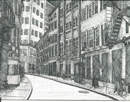 City Street-Crosshatch by Purdy26