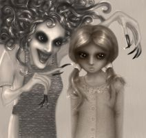 Coraline and her Other Mother by Ksenuli
