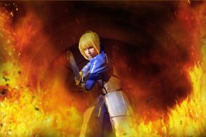 Saber Fate Zero Cosplay - Be strong until the end by K-I-M-I