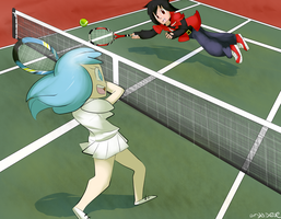 Tennis for Two (Request) by dryadese