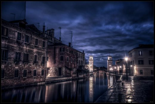 Venice by night by zardo