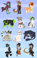 Page Chibi Batch 2. by KingNeroche