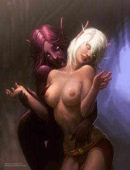 Warcraft elves full topless by KostanRyuk